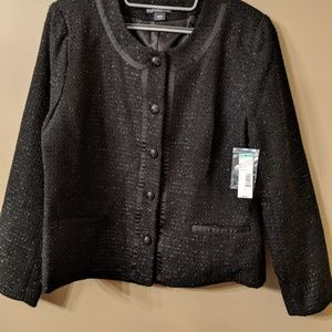 NWT Black and Silver Blazer